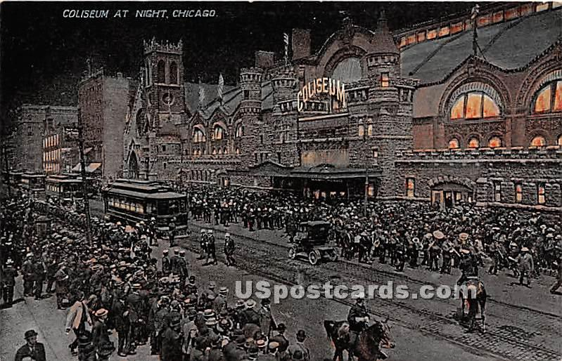 Coliseum - Chicago, Illinois IL Postcard