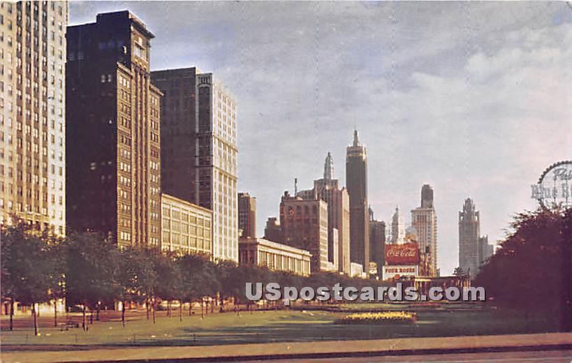 Michigan Avenue, Tribune Tower - Chicago, Illinois IL Postcard