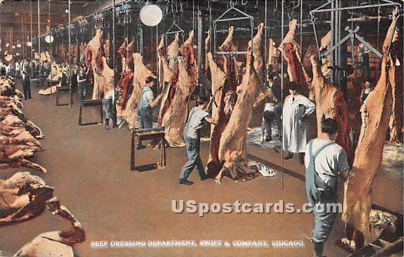 Beef Dressing Department, Swift & Company - Chicago, Illinois IL Postcard