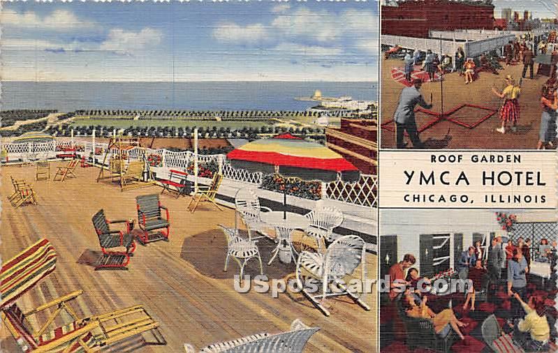 Roof Garden, YMCA Hotel - Chicago, Illinois IL Postcard
