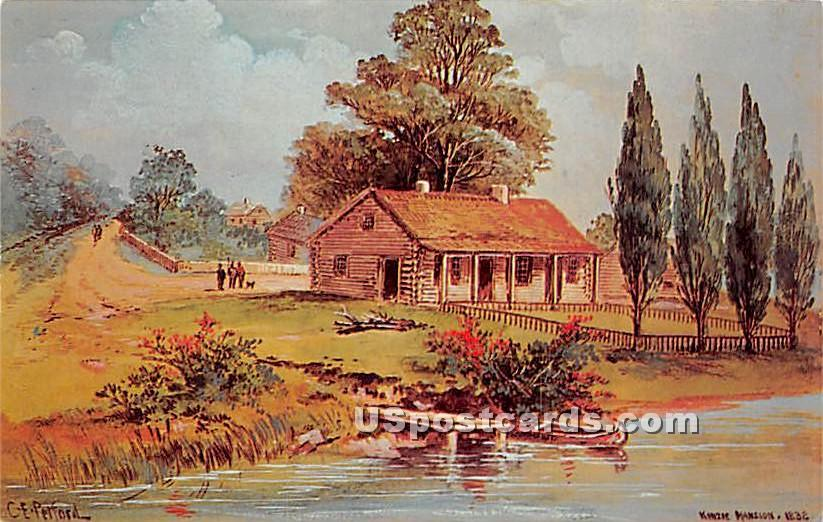Chicago's First Home, Historical Society - Illinois IL Postcard