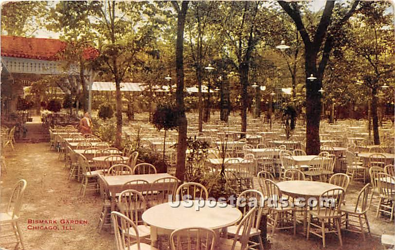 Bismark Garden - Chicago, Illinois IL Postcard