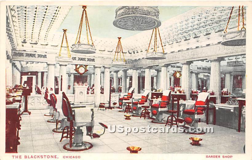 Barber Shop, Blackstone - Chicago, Illinois IL Postcard