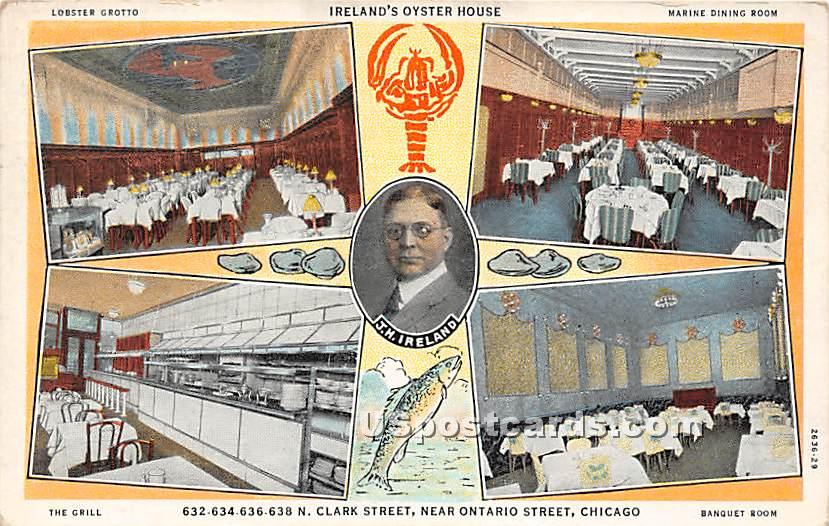 Ireland' Oyster House - Chicago, Illinois IL Postcard