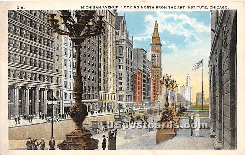 Michigan Avenue - Chicago, Illinois IL Postcard