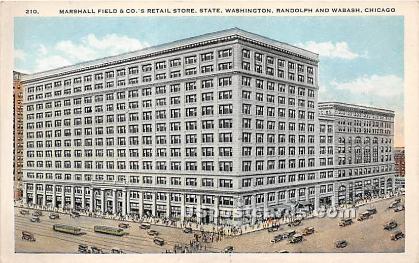 Marshall Field & Co's Retail Store - Chicago, Illinois IL Postcard