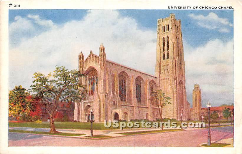 University of Chicago Chapel - Illinois IL Postcard
