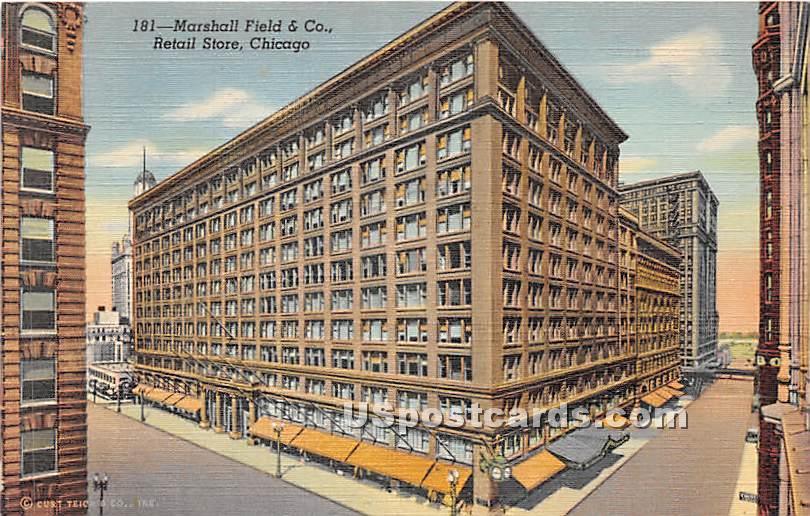 Marshall Field & Co Retail Store - Chicago, Illinois IL Postcard