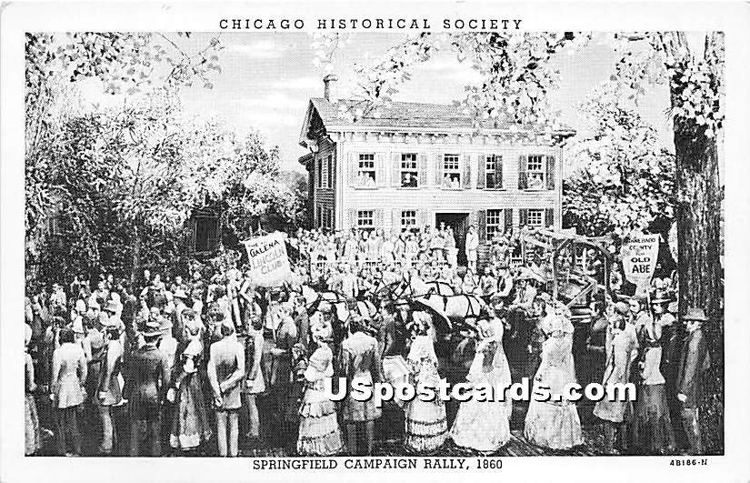 Springfield Campaign Rally 1860, - Chicago, Illinois IL Postcard