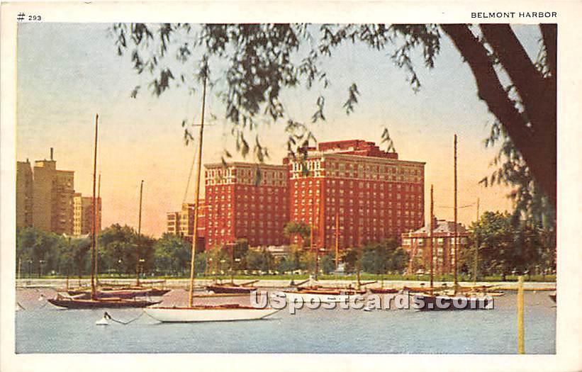 Belmont Harbor - Chicago, Illinois IL Postcard