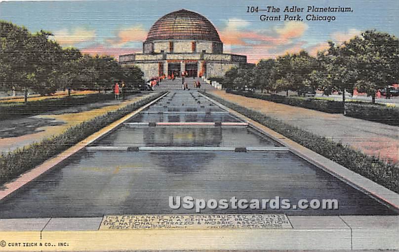 Adler Planetarium, Grant Park - Chicago, Illinois IL Postcard