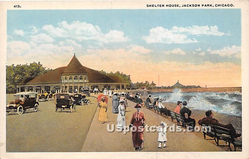 Shelter House, Jackson Park - Chicago, Illinois IL Postcard