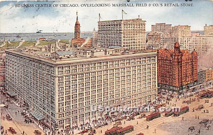 Business Center, Marshall Field - Chicago, Illinois IL Postcard