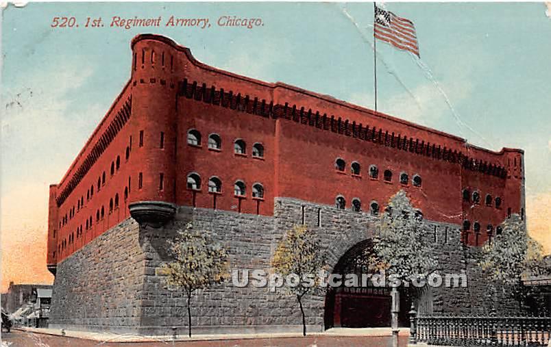 1st Regiment Armory - Chicago, Illinois IL Postcard