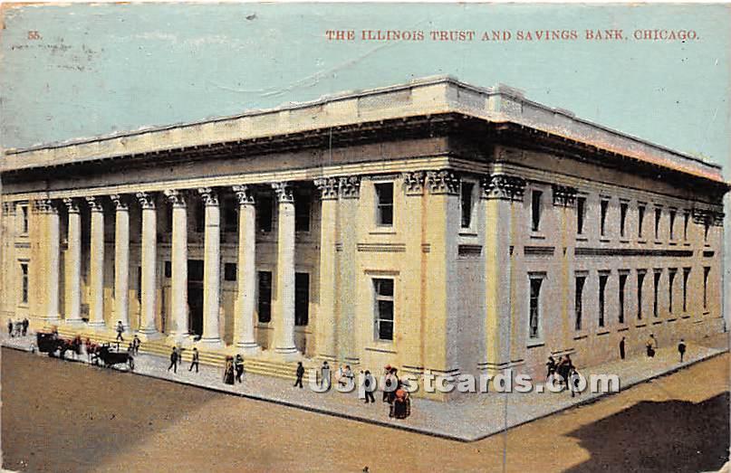 Illinois Trust & Savings Bank - Chicago Postcard