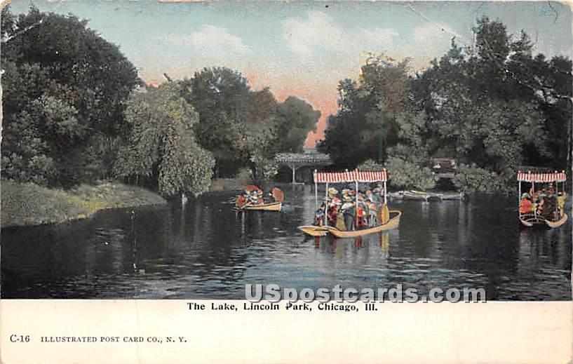 Lake, Lincoln Park - Chicago, Illinois IL Postcard