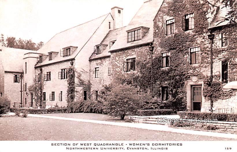 Section of West Quadrangle - Evanston, Illinois IL Postcard