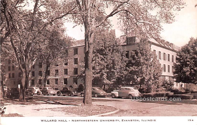Willard Hall - Evanston, Illinois IL Postcard