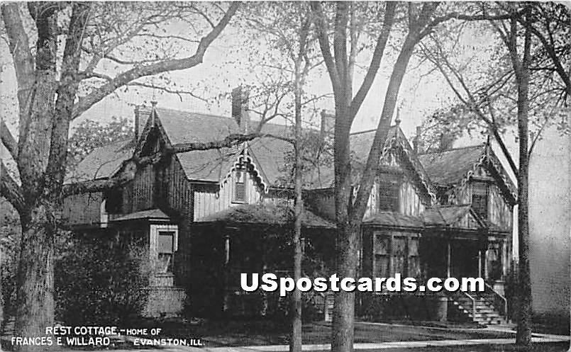 Home of Frances E Willard - Evanston, Illinois IL Postcard