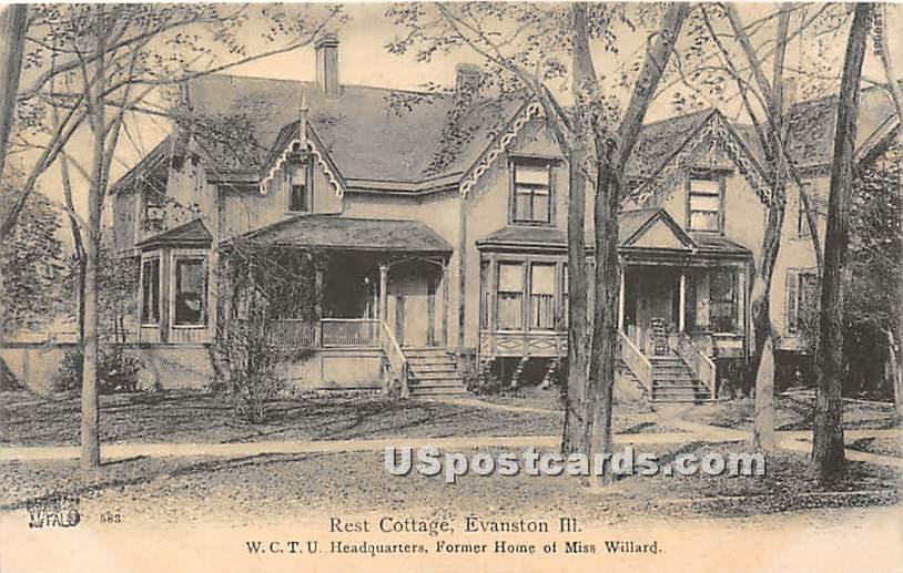 Rest Cottage, Former Home of Miss Willard - Evanston, Illinois IL Postcard