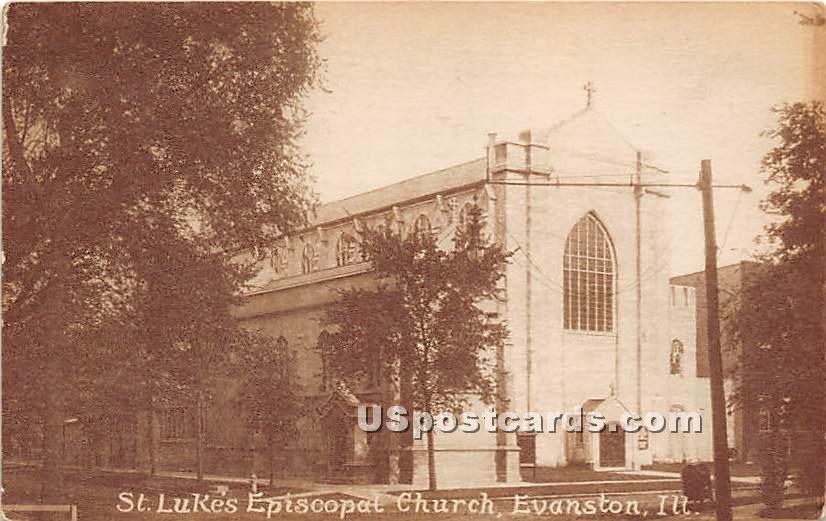 St Lukes Episcopal Church - Evanston, Illinois IL Postcard