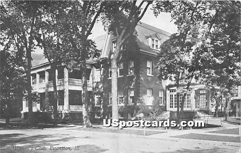 Women's Club - Evanston, Illinois IL Postcard