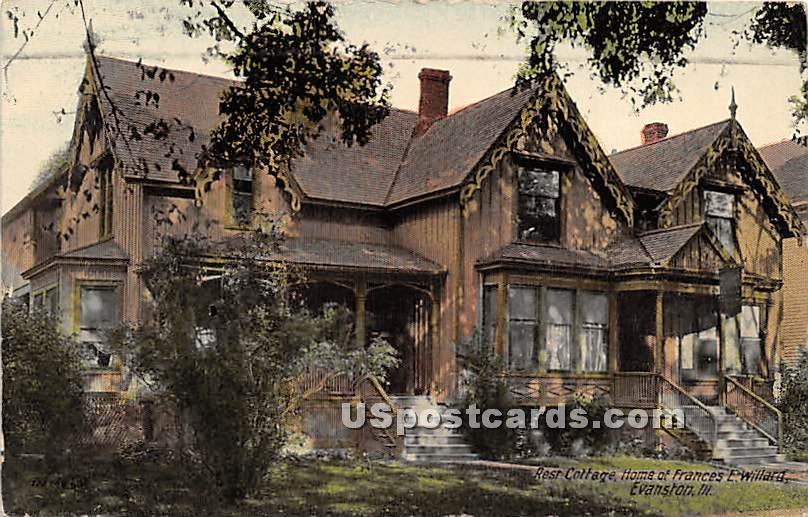 Rest Cottage, Home of Frances E Willard - Evanston, Illinois IL Postcard