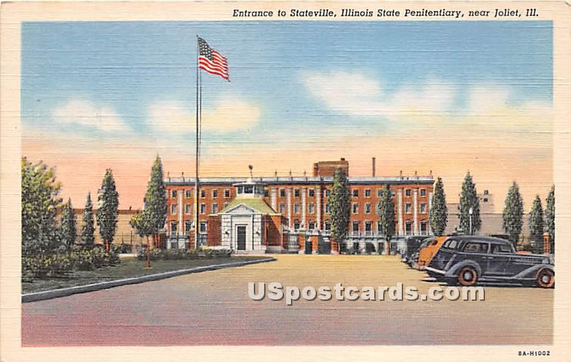 Illinois State Penitentiary - Joliet Postcard