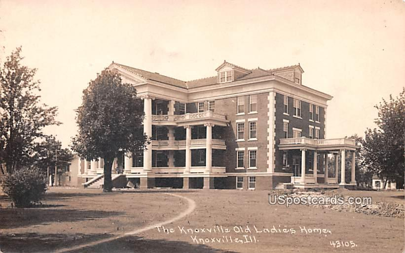 Knoxville Old Ladies Home - Illinois IL Postcard