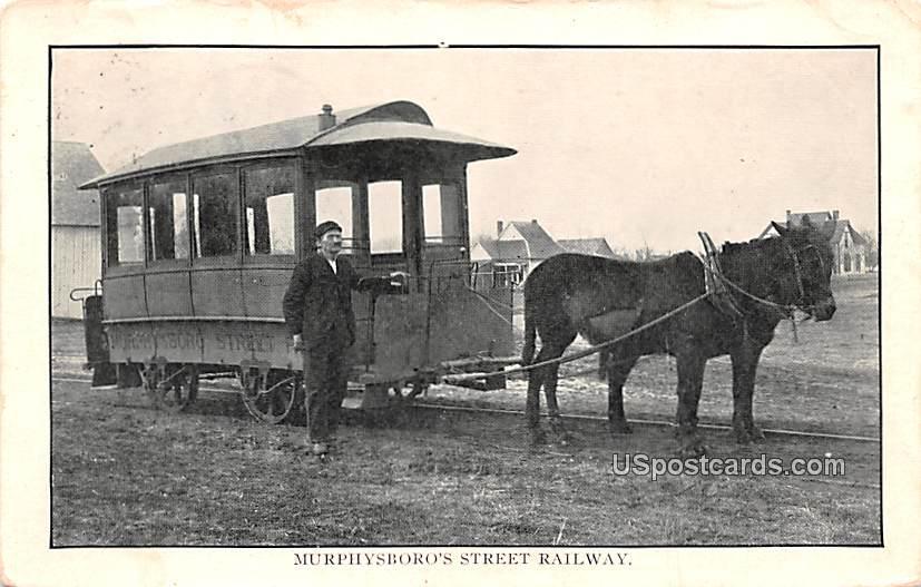 Murphysboro's Street Railway - Illinois IL Postcard