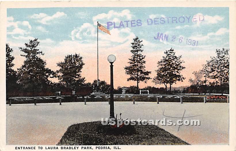 Laura Bradley Park - Peoria, Illinois IL Postcard
