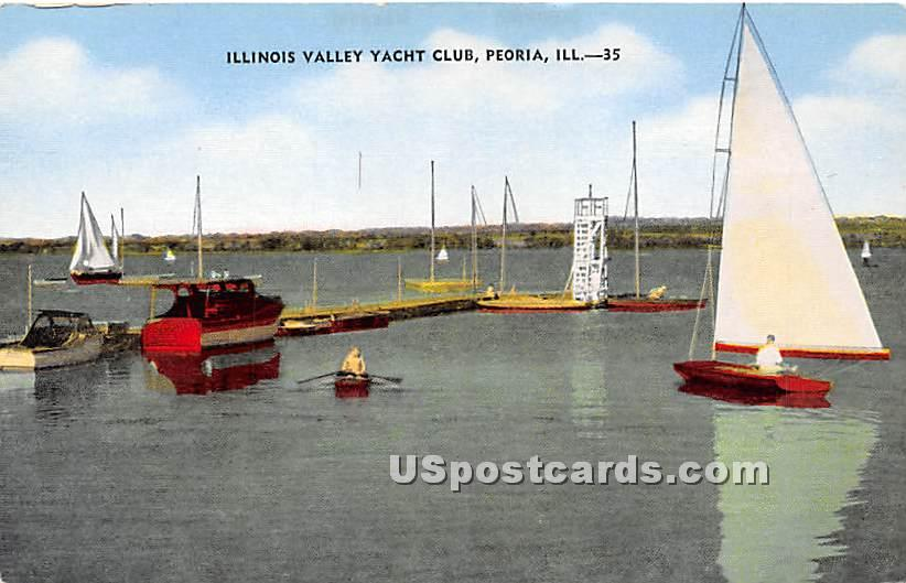 Illinois Valley Yacht Club - Peoria Postcard