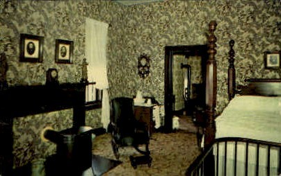 MR. Lincoln's Bedroom - Springfield, Illinois IL Postcard