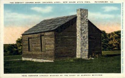 The Onstott Cooper Shop - Petersburg, Illinois IL Postcard