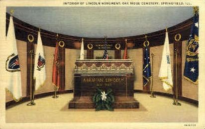 Oakridge Cemetery - Springfield, Illinois IL Postcard