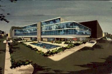 The Peoria Sands Motel - Illinois IL Postcard