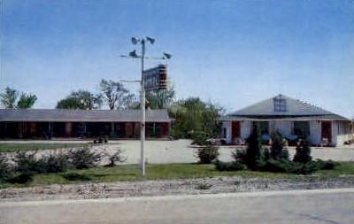 Harrisburg Motor Hotel - Illinois IL Postcard