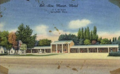 Bet-Aire Manor Motel - Springfield, Illinois IL Postcard