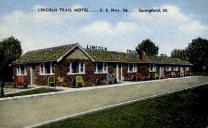 Lincoln Trail Motel  - Springfield, Illinois IL Postcard