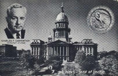 Illinois' Capitol Building - Misc Postcard