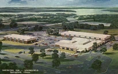 Sheraton Inn - Springfield, Illinois IL Postcard