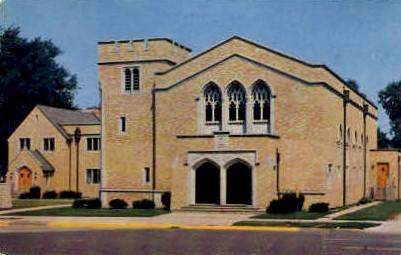 First Baptist Church - Waukegan, Illinois IL Postcard