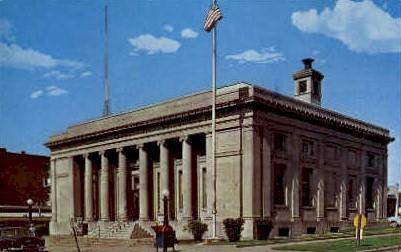 United States Post Office - Harrisburg, Illinois IL Postcard