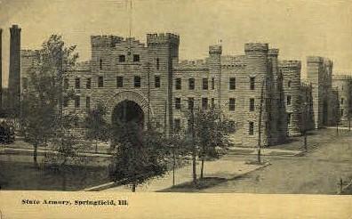 State Armory  - Springfield, Illinois IL Postcard