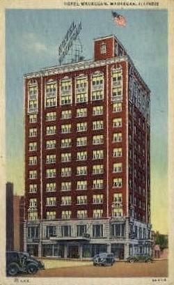 Hotel Waukegan - Illinois IL Postcard