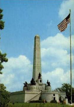 The Lincoln Tomb - Springfield, Illinois IL Postcard