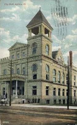 City Hall - Aurora, Illinois IL Postcard