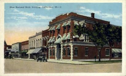 1st National Bank Bldg. - Carbondale, Illinois IL Postcard