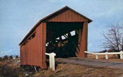 Illinois Covered Bridge - Springfield Postcard