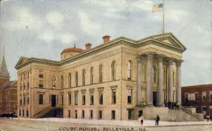 Court House - Belleville, Illinois IL Postcard
